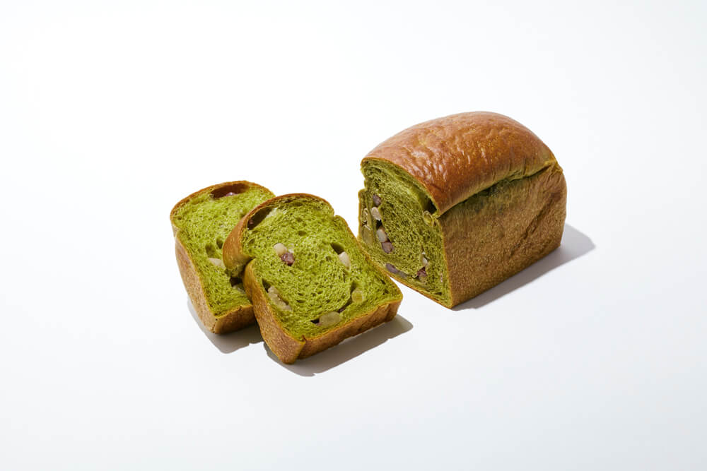 BOUL'ANGE(ブール アンジュ)の抹茶フェア『抹茶と小豆のアンジュ食パン』