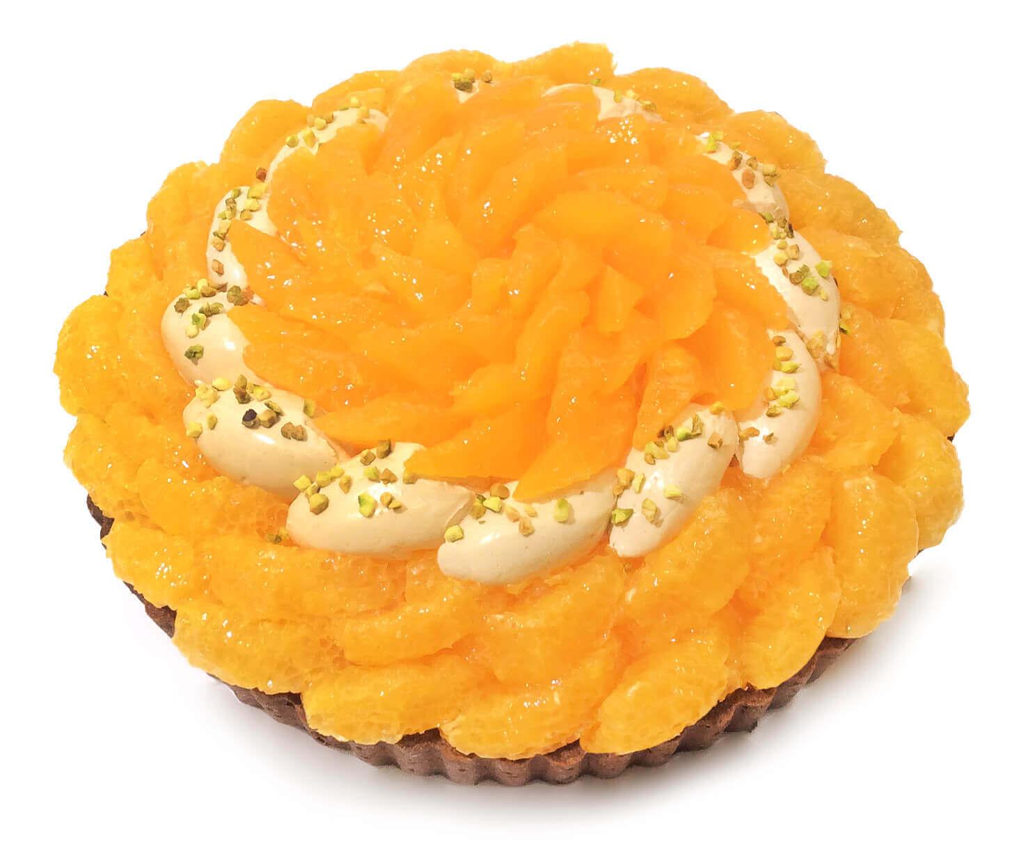 カフェコムサの『熊本県産「デコポン」と伊予柑のプラリネクリームのケーキ』