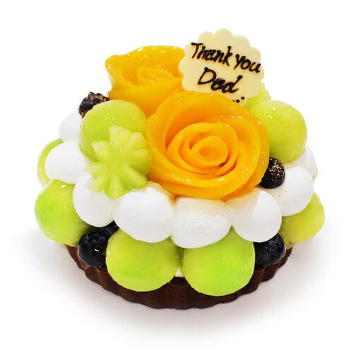 カフェコムサの『マンゴーローズとメロンのケーキ』