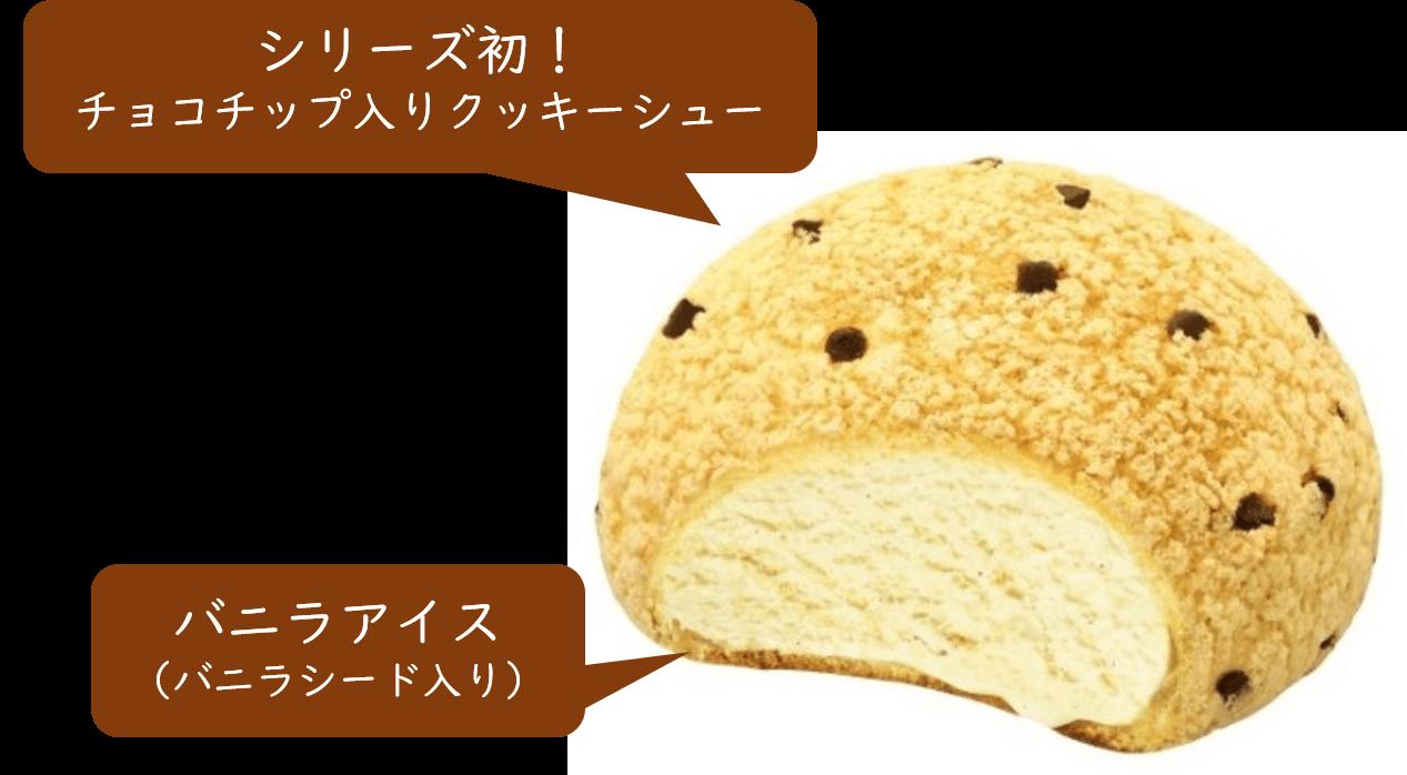 『チョコチップ メロンパンアイス』の構成