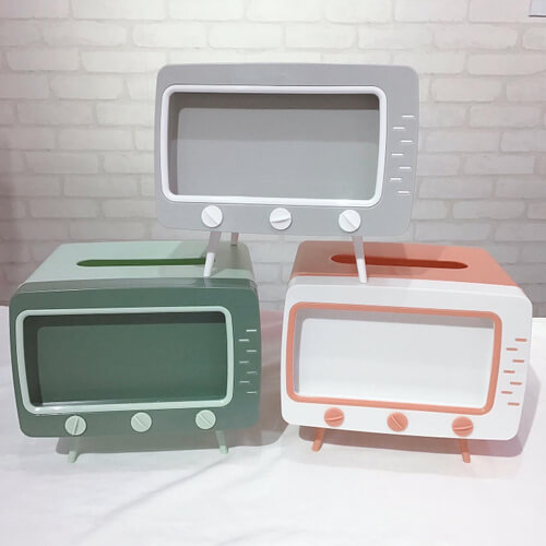 サンキューマートの『テレビ型ティッシュボックス』