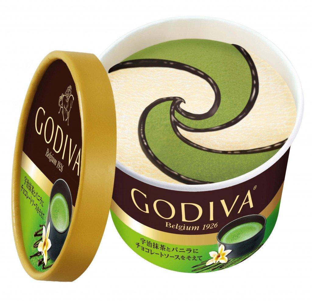 ゴディバの『宇治抹茶とバニラにチョコレートソースを添えて』
