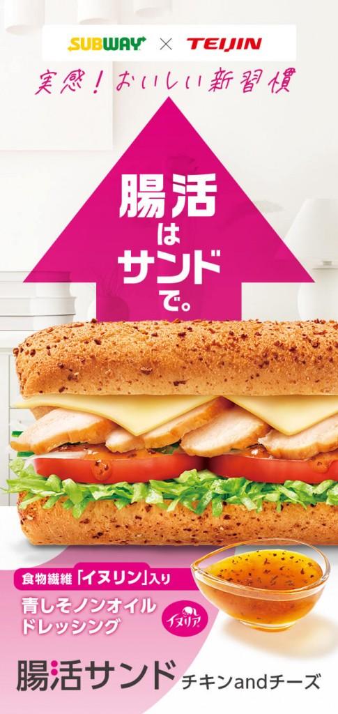 サブウェイの『腸活サンド チキンandチーズ』
