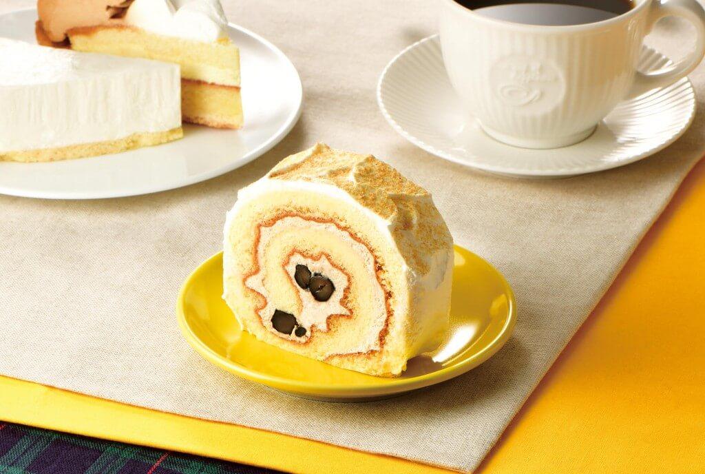 カフェ・ド・クリエの『和風ロールケーキ~きなこ&黒豆~』
