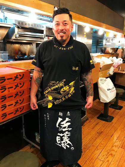 麺恋佐藤の代表:佐藤和己