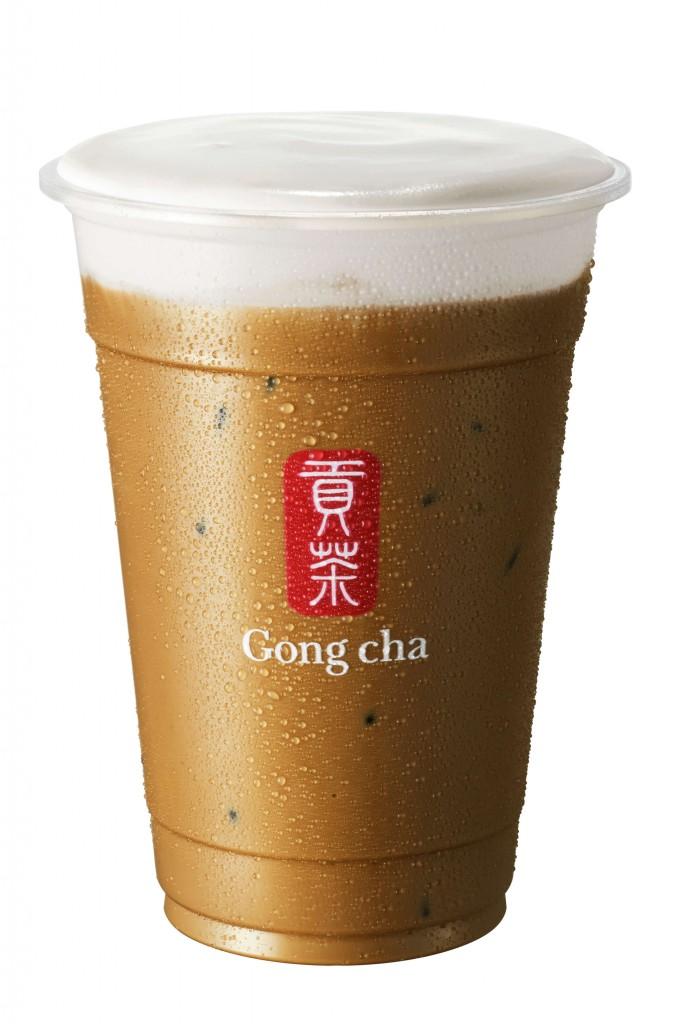 ゴンチャの『新 焙じ茶 ミルクティー+ミルクフォーム』