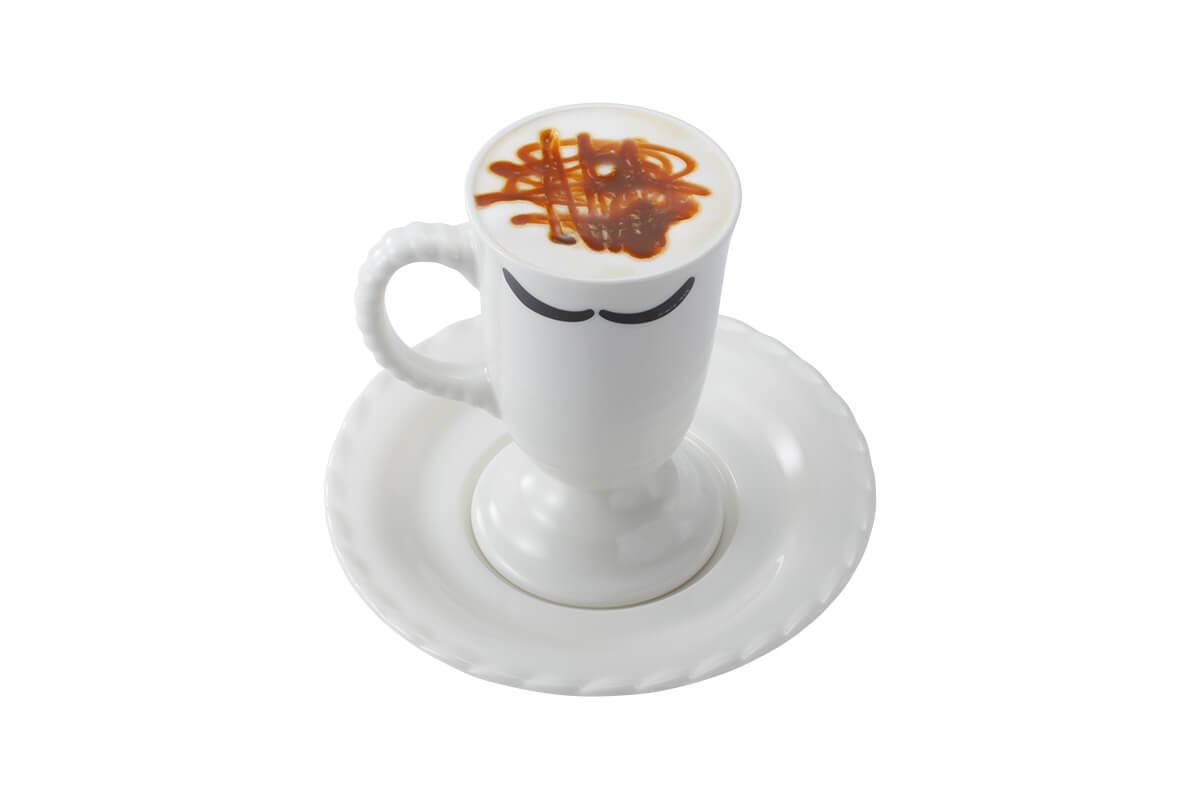 びっくりドンキーの『贅沢ミルク泡 キャラメルマキアート』