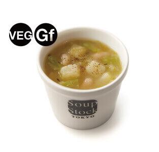 スープストックトーキョーのグルテンフリー対応メニュー-ポロ葱と白いんげん豆のミネストローネ