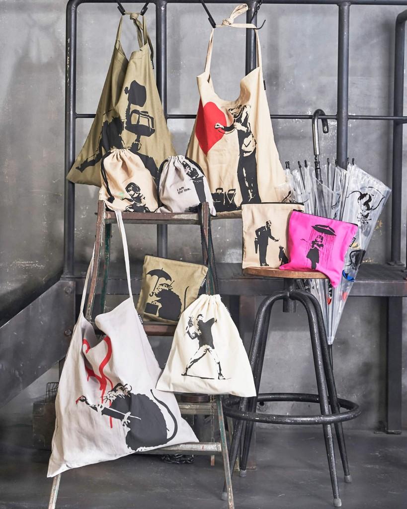 雑貨ストア「ASOKO」(アソコ)の芸術家バンクシーのグラフィティを用いた限定アイテム