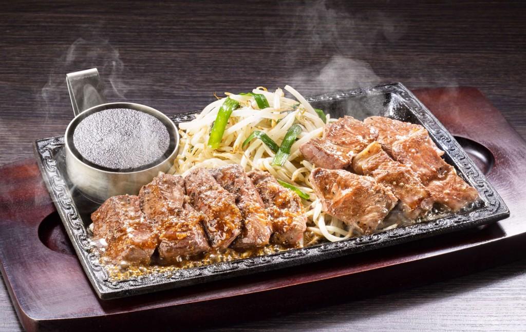 ステーキガストの『牛ハラミ焼肉&みすじカットステーキ』