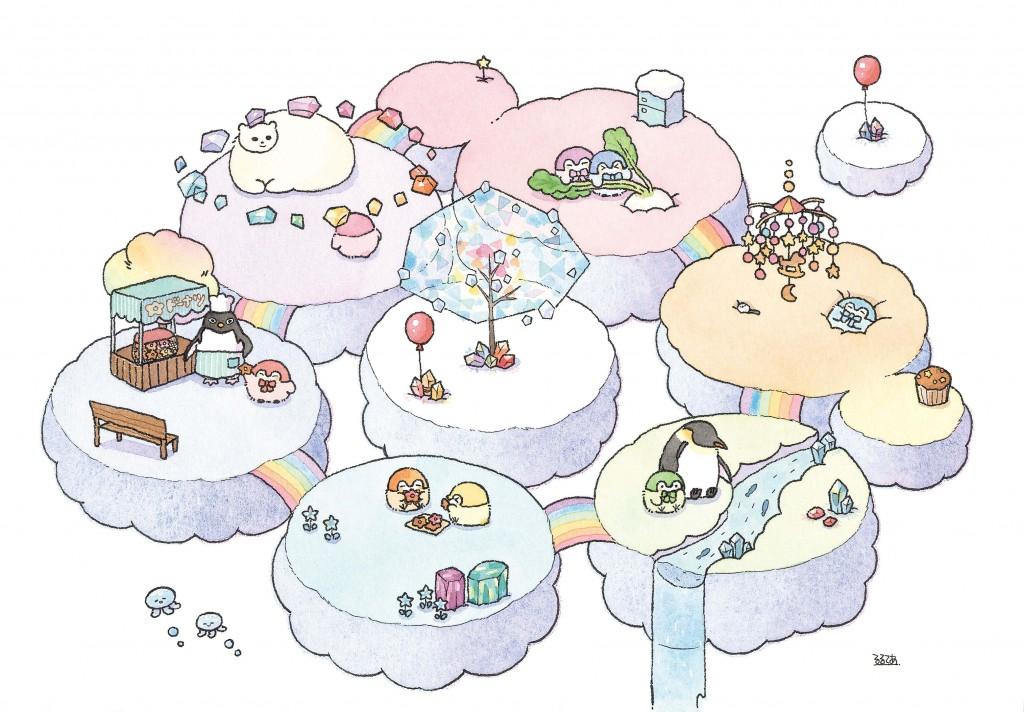 コウペンちゃん にじいろミュージアム-新作描き下ろし複製原画(B5額装)「おやすみの世界」