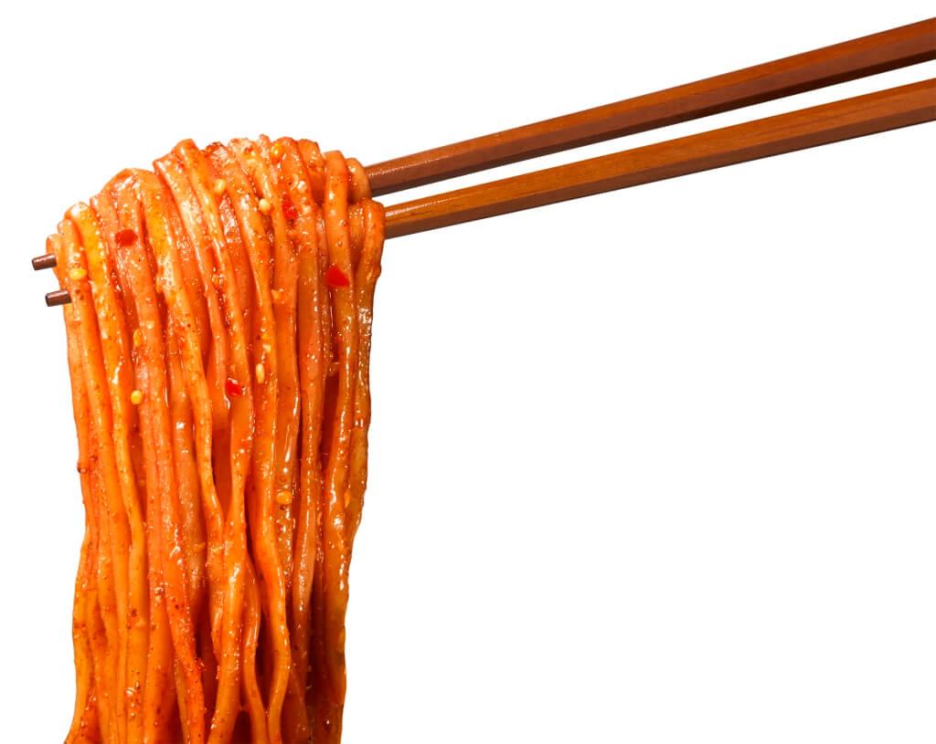 『マルちゃん正麺 カップ 炎の汁なし担々麺』の麺