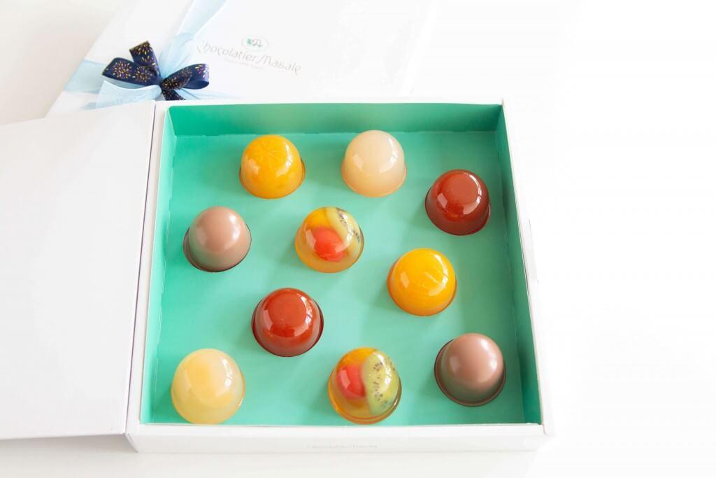 ショコラティエ マサールの『ゼリー&チョコレートプリン10個入』