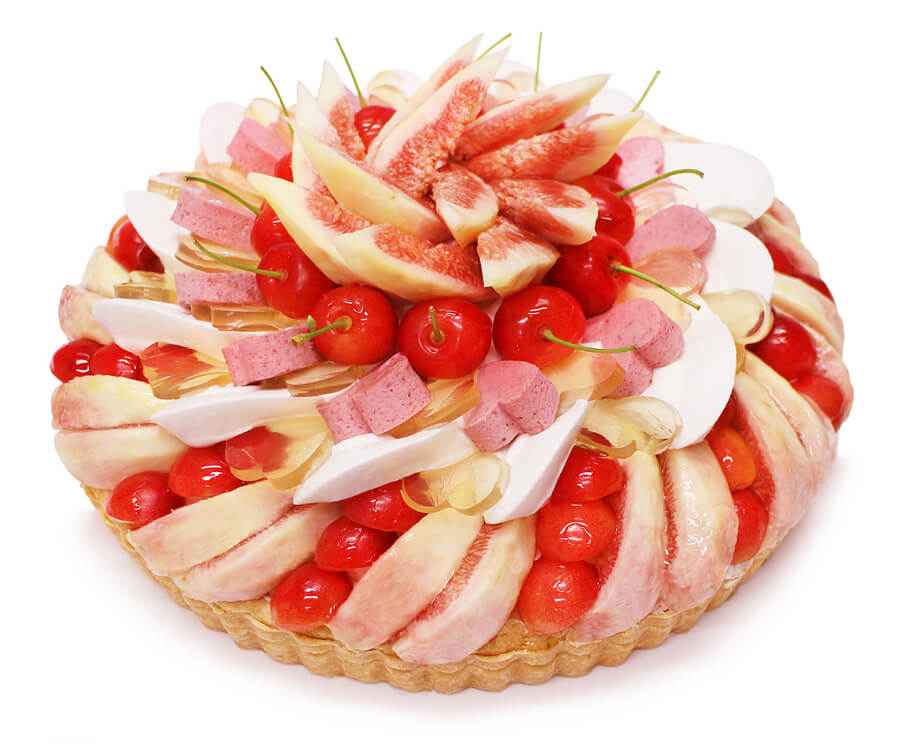 カフェコムサの『織姫 — さくらんぼといちじくのケーキ —』