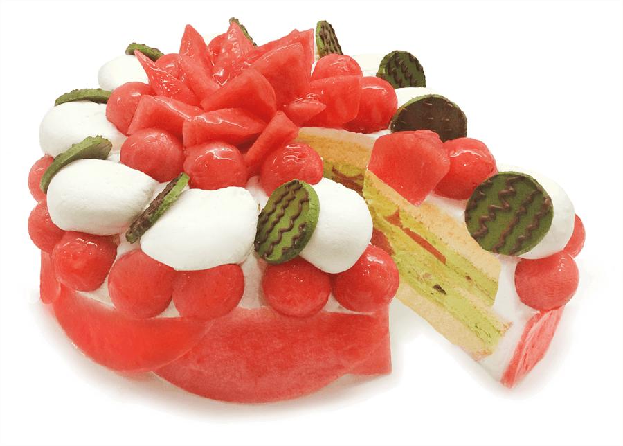 カフェコムサの『小玉スイカ「ひとりじめ7」のショートケーキ』