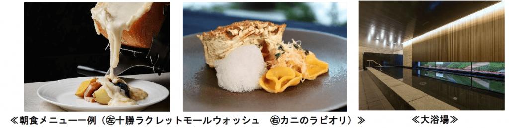 京王プレリアホテル札幌の朝食ブッフェの外来提供