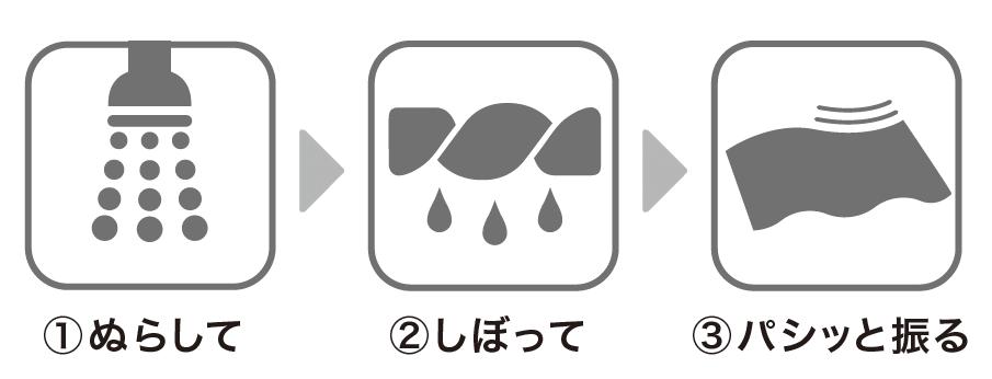 ニトリの『ひんやりクールタオル』の使用方法