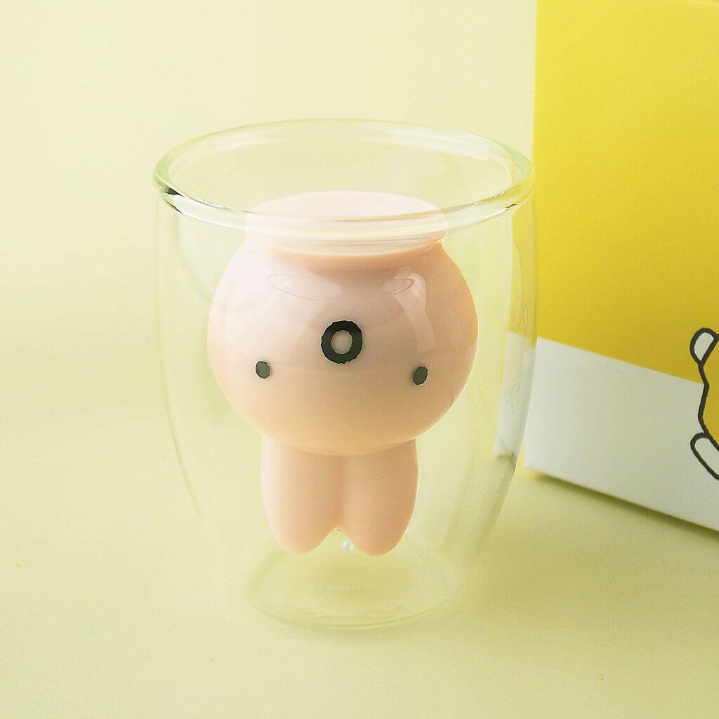 「ミッフィー」ダブルウォールグラス-びっくり GLRK2050