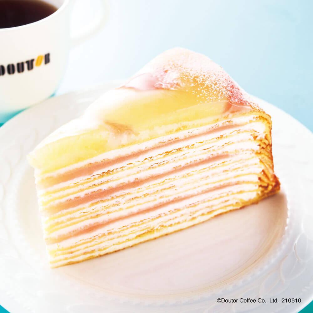ドトールコーヒーショップの『福島県産白桃のミルクレープ』