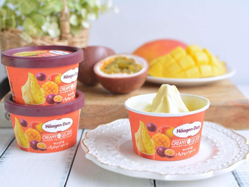 ハーゲンダッツ ミニカップ CREAMY GELATO(クリーミージェラート)『マンゴー&パッションフルーツ』