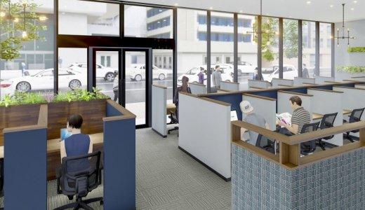【BIZcomfort札幌】北海道エリア初進出!北10西3に24時間利用できる大型シェアオフィスがオープン!カフェブースやテレフォンブースも用意