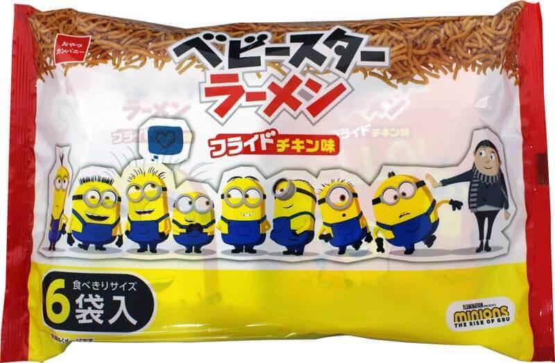 『ミニオン ベビースターラーメン(フライドチキン味)』6袋入