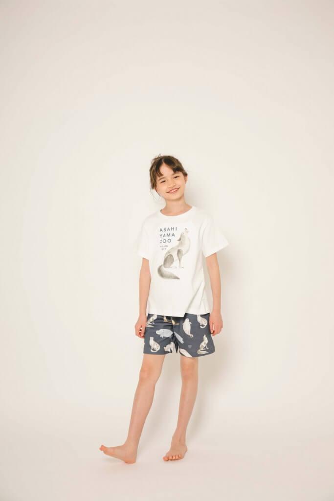 gelato pique(ジェラート ピケ)の『ASAHIYAMA ZOO COLLECTION』-Tシャツ&ハーフパンツ