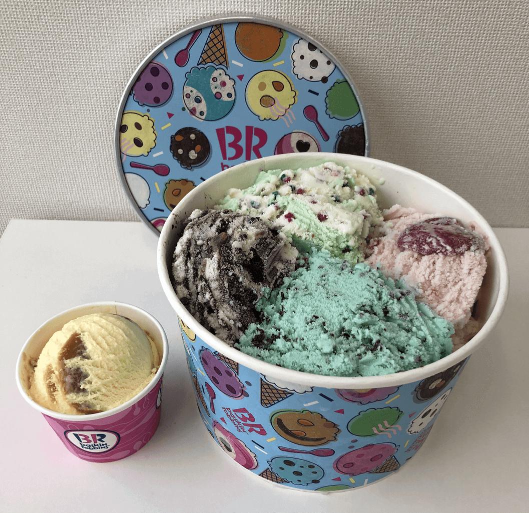 サーティワン アイスクリームの『スーパービッグカップ』は4種類まで選べる!