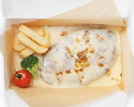 びっくりドンキーの『フォンデュ風チーズハンバーグ』