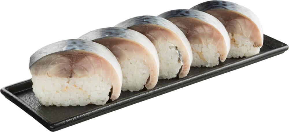 スシローの『超てんこ盛り』-超肉厚とろ〆さば棒寿司