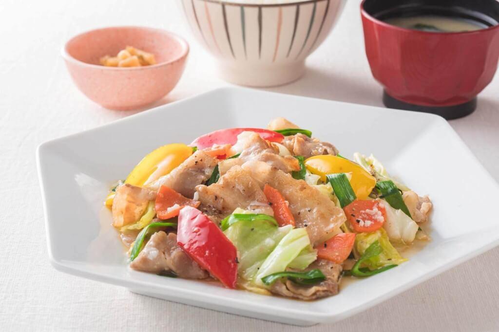 大戸屋の『豚と野菜の塩麹炒め』