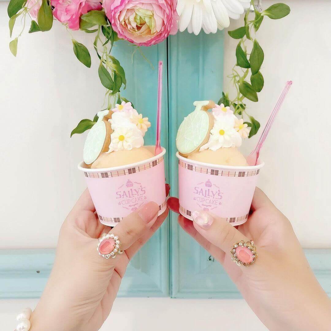 サリーズカップケーキ サッポロファクトリー店の『メロンジェラート』