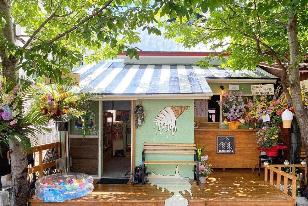 MORI NO SODA(森のソーダ)・駄菓子屋チョビの外観