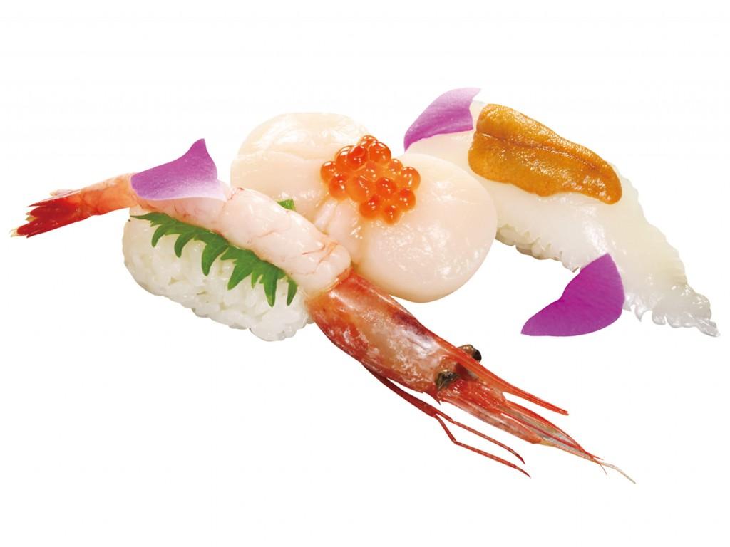 くら寿司の『北海風三種盛り』