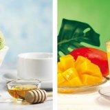くら寿司から『完熟マンゴーのハニームースパフェ』と『まるごとマンゴーソーダ』が7月30日(金)より各店舗1日20食限定で発売!