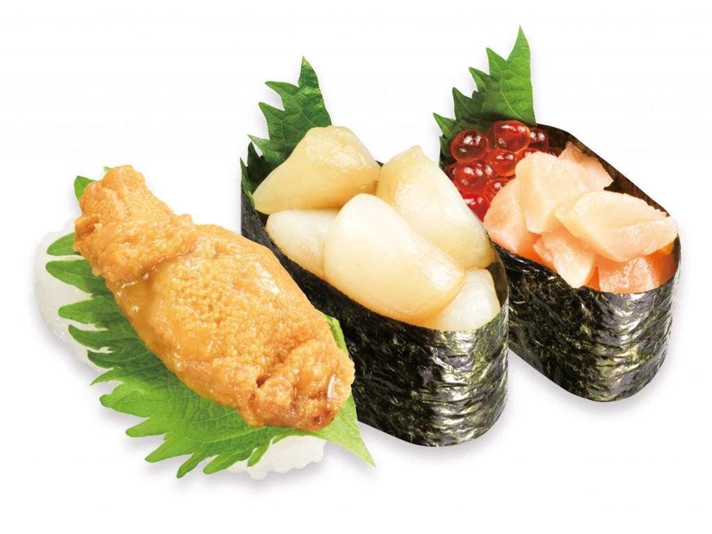 くら寿司の『贅沢三種盛り』