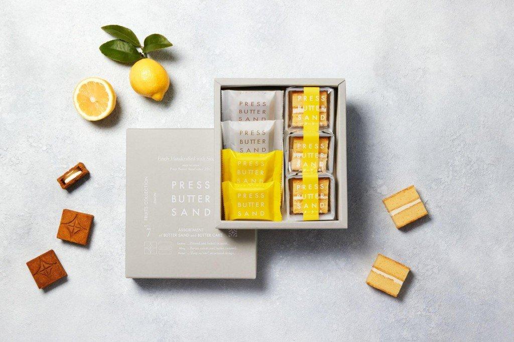 PRESS BUTTER SAND(プレスバターサンド)の『バターサンド<檸檬>』『バターケーキ』