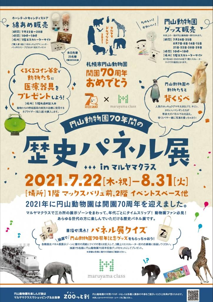 マルヤマクラス×円山動物園70周年-札幌市円山動物園開園70周年歴史パネル展