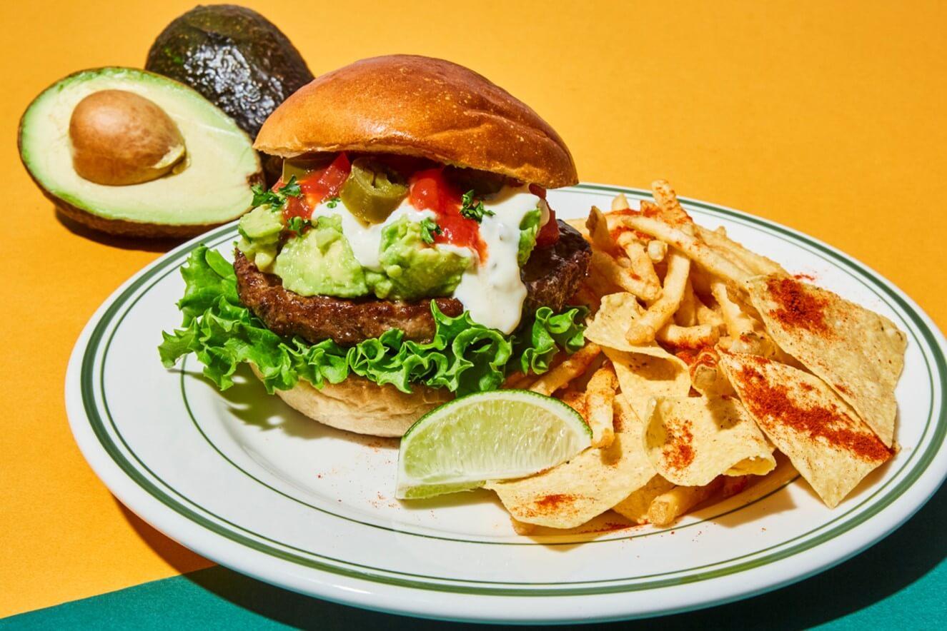 J.S. BURGERS CAFEの『メキシカンアボカドバーガー』