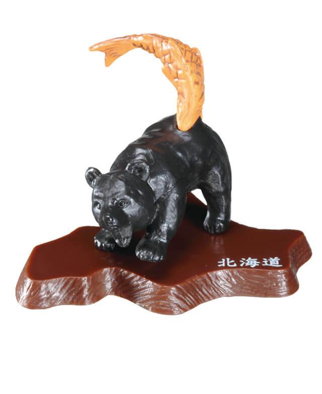 ガシャポンのデパートの『木彫り熊vs木彫り鮭 北海道限定版』