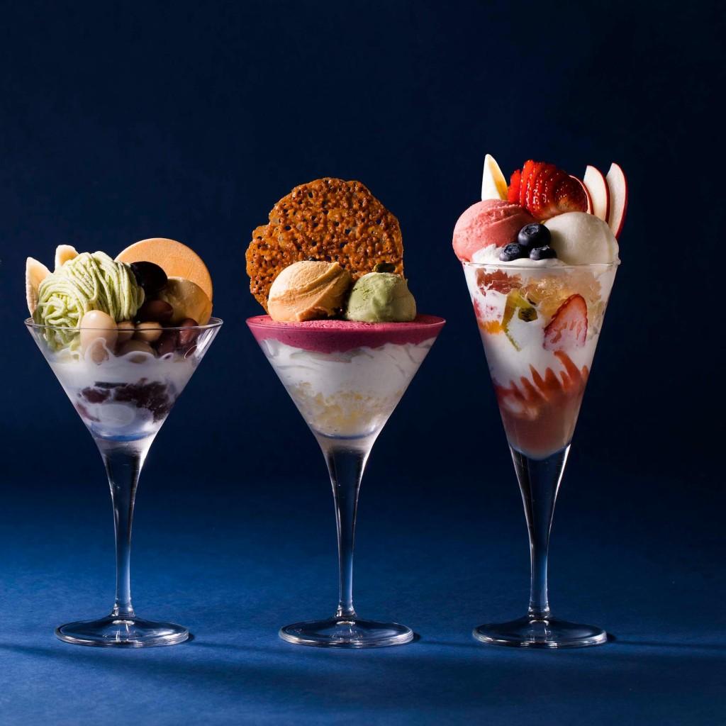 パフェ佐藤の『季節のフルーツ』『塩キャラメルとピスタチオ』『豆と梅、ほうじ茶』