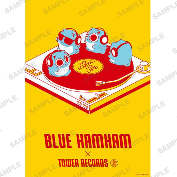 タワーレコードの「ブルーハムハム」とコラボグッズ-BLUE HAMHAM × TOWER RECORDS コラボポスター