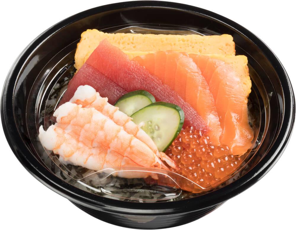 スシローのデリバリー人気商品『海鮮丼』