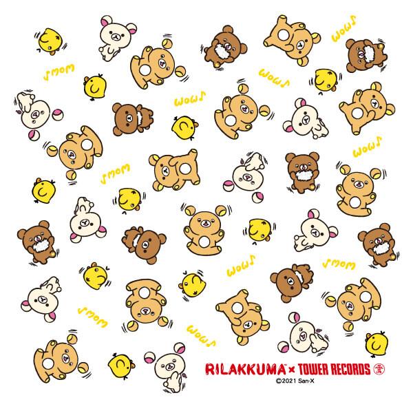 『Rilakkuma × TOWER RECORDSキャンペーン2021』-リラックマ座布団(白)