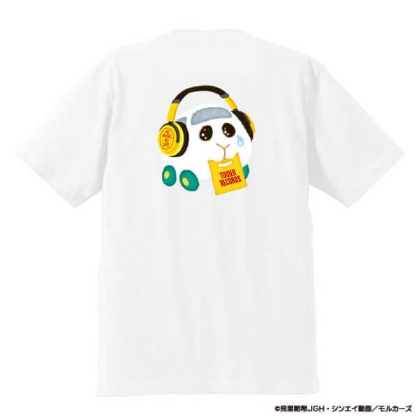 タワーレコード×PUI PUI モルカーの『シロモ Tシャツ ホワイト(裏)』