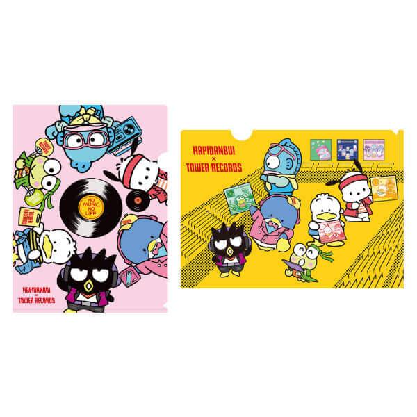 タワーレコード×『はぴだんぶい』とのコラボグッズ-クリアファイル2枚セット