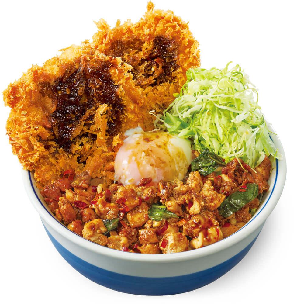 とんかつ専門店「かつや」の『鶏ガパオダブルチキンカツ丼』