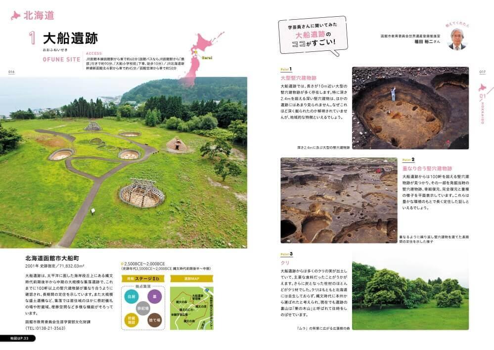 『北海道・北東北の縄文遺跡群を旅するガイド』-「大船遺跡」紹介ページ