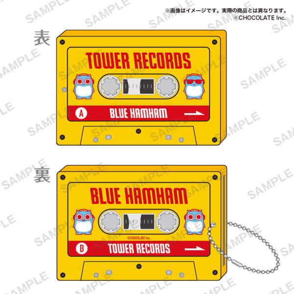 タワーレコードの「ブルーハムハム」とコラボグッズ-カセット風パスケース