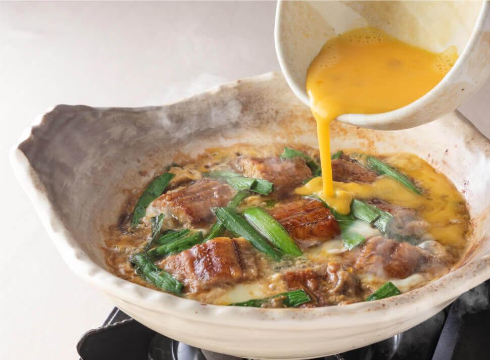 ⼤⼾屋 ごはん処の『うなぎの柳川土鍋定食』